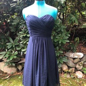 Bill Levkoff dark blue cocktail dress. size 4